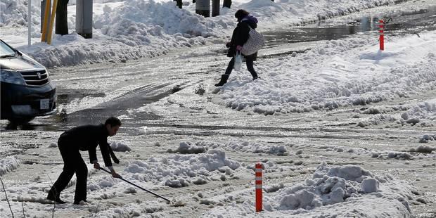 Neige au Japon: 3 morts, 850 blessés, manteau de 20 cm à Tokyo