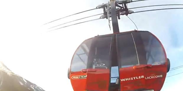 Du base jump depuis un téléphérique - La DH