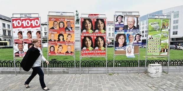 affiches electorales elections parti politique bruxelles ecole MR PS CDH