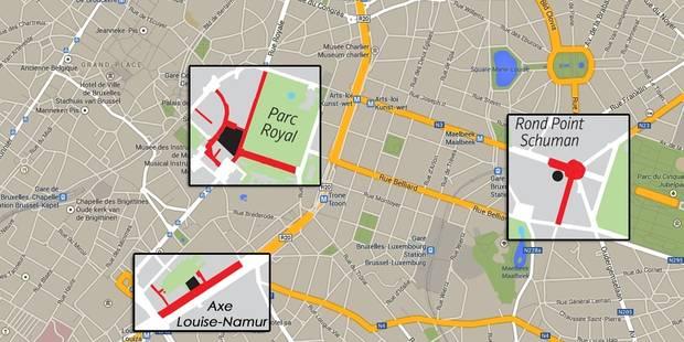 Obama à Bruxelles: les zones rouges à éviter (CARTE) - La DH