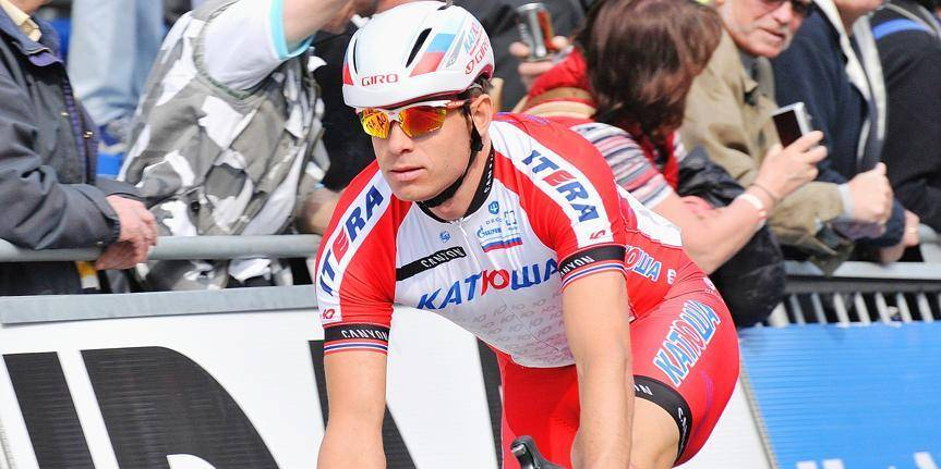 20140328 - HARELBEKE, BELGIUM: Winner Norvegian Alexander Kristoff of Team Katusha pictured during the 'Record Sprint Challenge cycling event in Harelbeke, Friday 28 March 2014. The event is taking place before the start of the 'E3 Prijs Vlaanderen Harelbeke' cycling race. BELGA PHOTO EMILIE RENSON