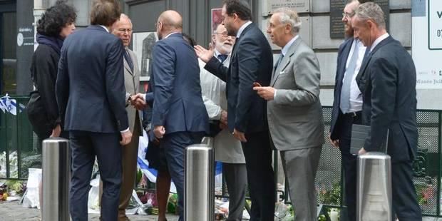 Hollande et d'autres dirigeants européens au Musée juif de Bruxelles - La DH