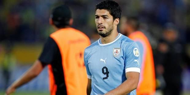 Suarez confirmé dans la liste définitive de l'Uruguay