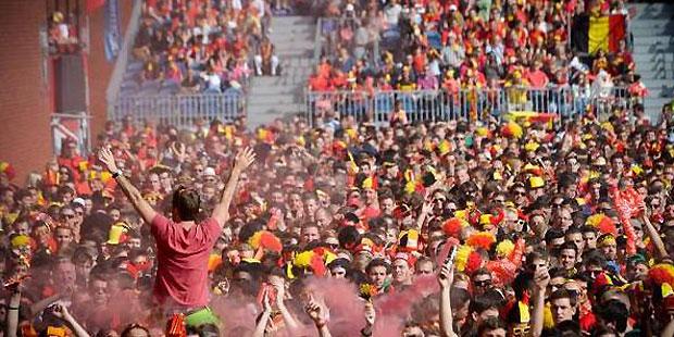 Ecran géant Bruxelles: 21.000 fans des Diables réunis au stade Roi Baudouin - La DH