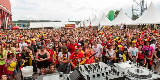 Ecran géant à Liège: 10.000 personnes rassemblées à sclessin ! - La DH