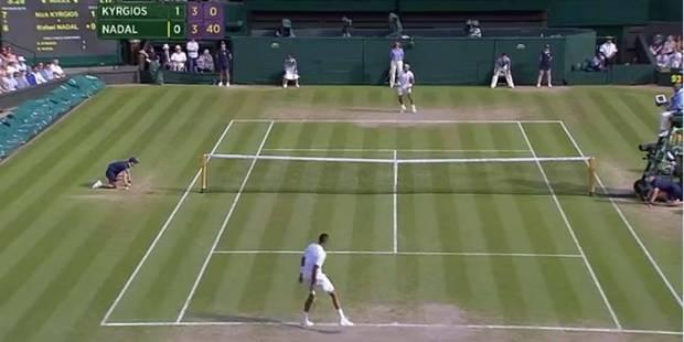 Wimbledon: le superbe tweener de Kyrgios contre Nadal - La DH