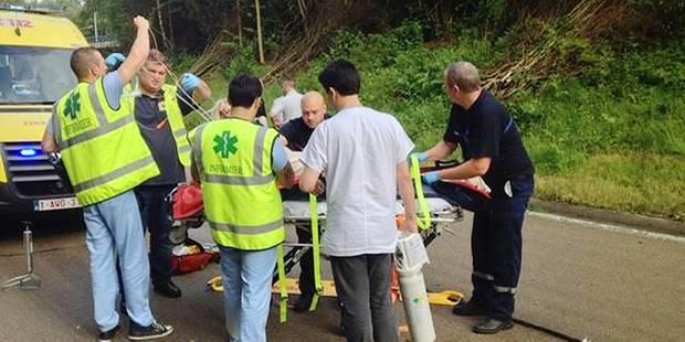 Un couple de motards chute dans l'échangeur - La DH