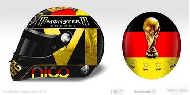 Casque de champion du monde pour Rosberg - La DH