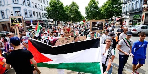 Gaza: plus de 5000 personnes ont manifesté à Bruxelles, quelques dérapages - La DH