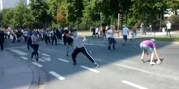 Manifestation propalestinienne à Bruxelles: drapeaux brûlés et jets de pierre (VIDÉOS) - La DH
