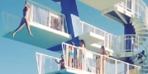 Grosse frayeur: Elle chute d'un plongeoir de 7 mètres - La DH
