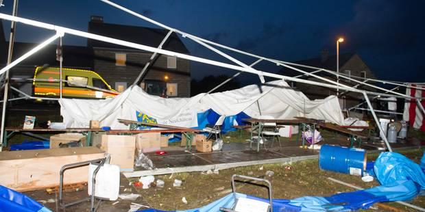 Marbay: le site de la brocante frappé par la mini-tornade est sécurisé - La DH