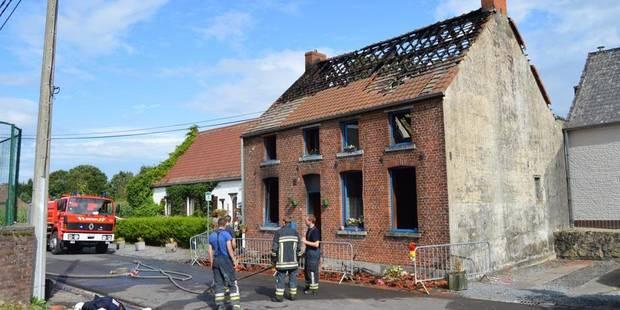 Une maison détruite par le feu à Pipaix - La DH