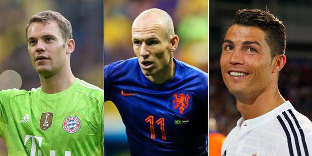 Meilleur joueur UEFA: Neuer, Robben et Ronaldo finalistes