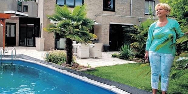 Il construit une piscine dans un jardin... qu'il loue - La DH