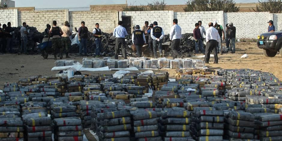 Découverte de plusieurs tonnes de cocaïne destinées à la Belgique