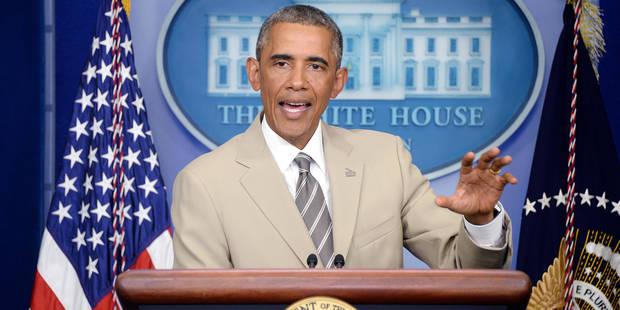 Le costume couleur sable d'Obama fait le buzz - La DH