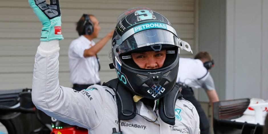 Rosberg en pole à Suzuka