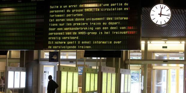 SNCB: Grève sauvage à La Louvière, la circulation ferrovière reprend progressivement - La DH