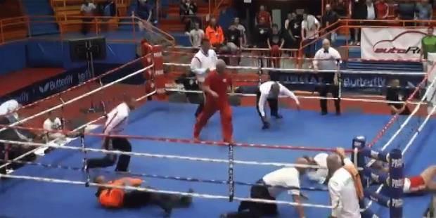 Un boxeur devient fou et frappe l'arbitre - La DH