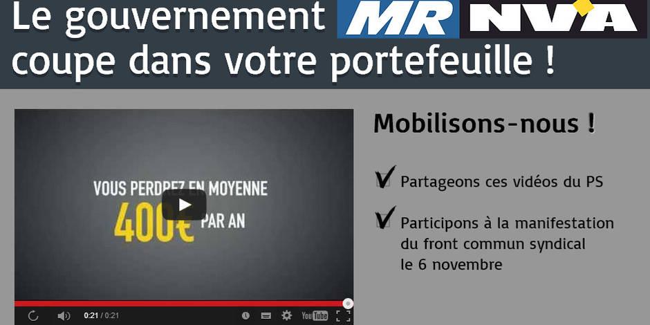 Les vidéos du PS contre le gouvernement Michel cartonnent