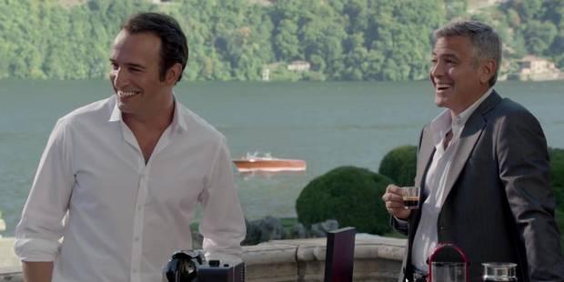 Jean Dujardin et George Clooney se disputent un Nespresso : irrésistible ! - La DH