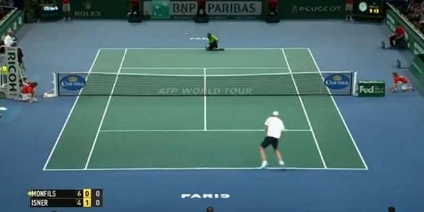 Masters 1000 de Paris: Monfils joue une balle à genoux - La DH