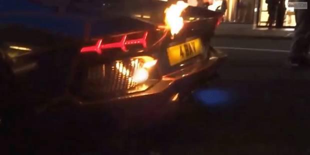 Sa Lamborghini prend feu en plein coeur de Londres - La DH