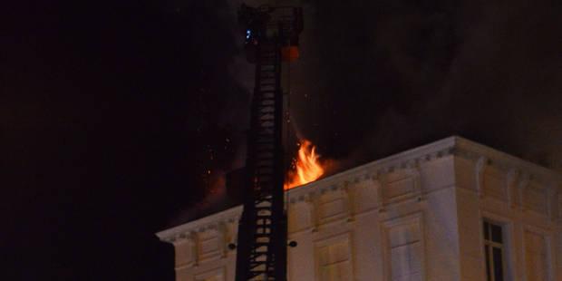 Incendie � Tournai : un jeune homme gri�vement bless�