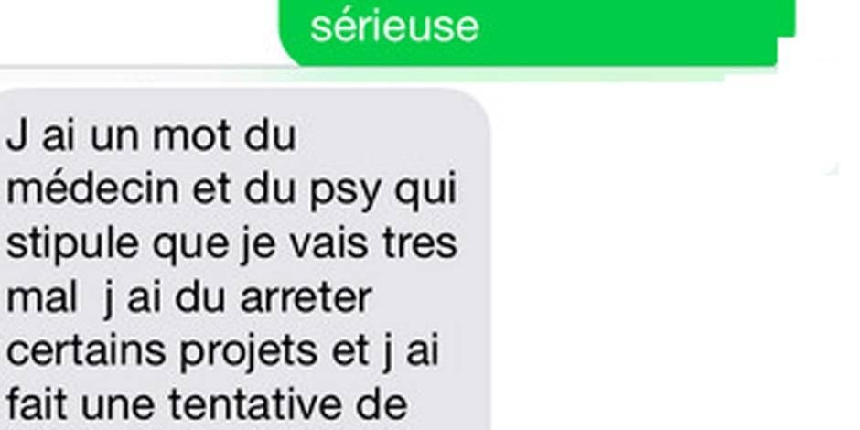 """""""J'ai fait une tentative de suicide"""": les SMS désespérés de Nabilla"""