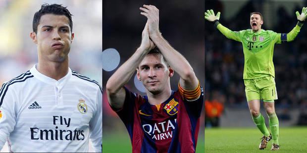 Ballon d'Or: CR7, Messi et Neuer sont les finalistes