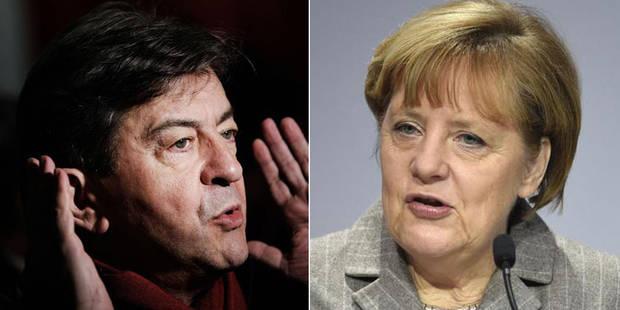"""Jean-Luc Mélenchon à Angela Merkel: """"Fermez-la!"""" - La DH"""
