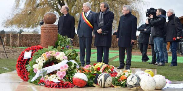 Platini inaugure le monument de la Trêve de Noël - La DH