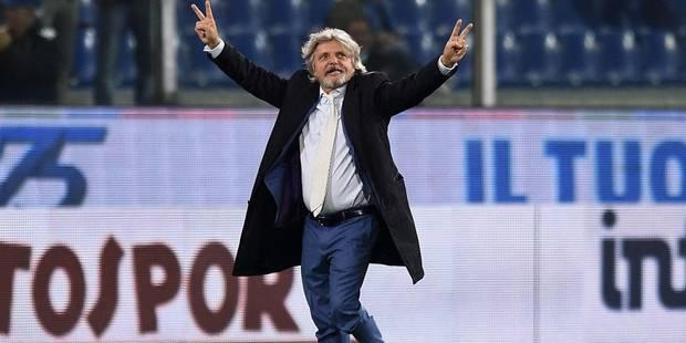 """Le président de la Sampdoria suspendu trois mois """"pour discrimination"""" - La DH"""