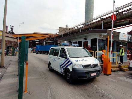 Accident mortel à Arcelor Ougrée.
