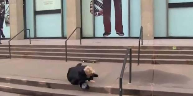 Justin Bieber se vautre en skateboard - La DH