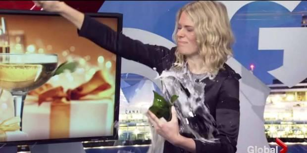 Un sabrage de bouteille de champagne complètement loupé à la télévision ! - La DH