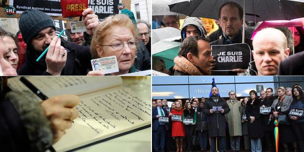 Charlie Hebdo: rassemblements de soutien en Belgique, minute de silence en France (Photos + Vidéo) - La DH