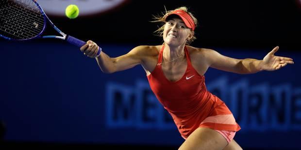 Open d'Australie: ça passe pour Sharapova mais une surprise dans le tableau féminin - La DH