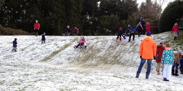 La Hulpe: le ch�teau, station de ski �ph�m�re