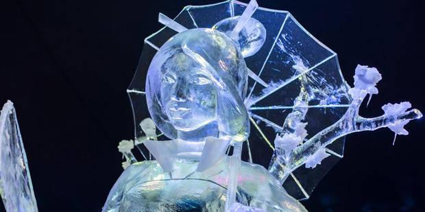 Pas moins de 160.000 visiteurs au festival de sculpture de glace de Liège - La DH