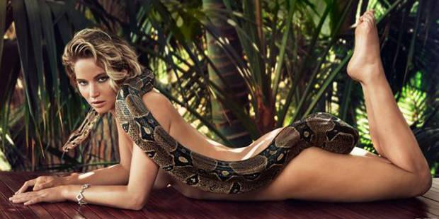 Jennifer Lawrence nue avec un boa pour Vanity Fair - La DH
