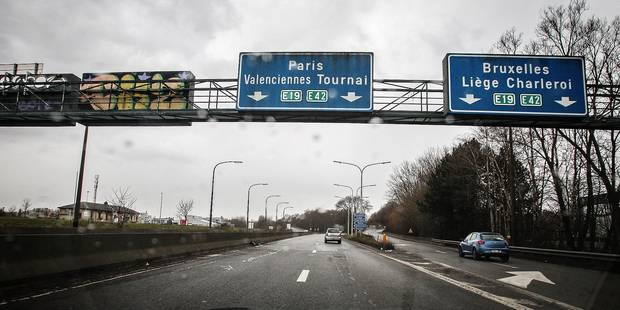 E19/E42: entrée d'autoroute vers Paris bouclée - La DH
