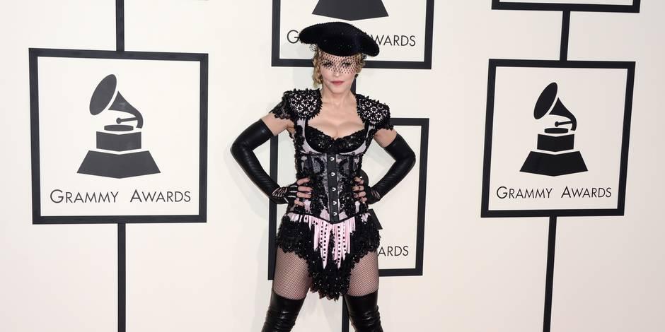Madonna en torera, Beyoncé en fourreau de dentelle noire : tous les looks des Grammys