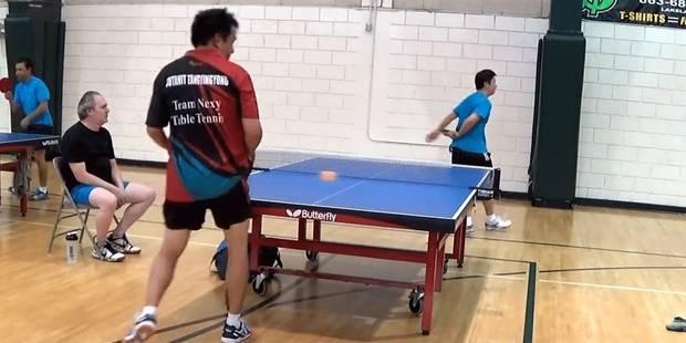L'incroyable coup d'un joueur de tennis de table - La DH