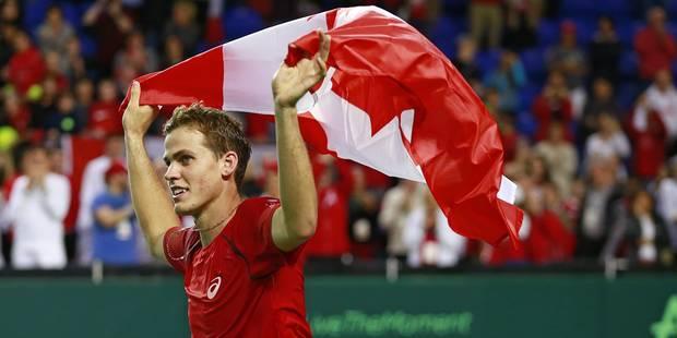 Coupe Davis: Pospisil délivre le Canada, futur adversaire des Belges - La DH