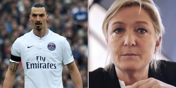 """Marine Le Pen réagit au dérapage d'Ibrahimovic: """"Il peut quitter la France s'il la considère ainsi"""" - La DH"""