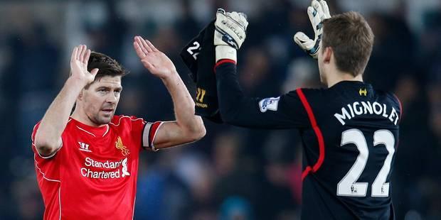 Premier League: clean sheet pour Mignolet, Liverpool se rapproche de ManU - La DH