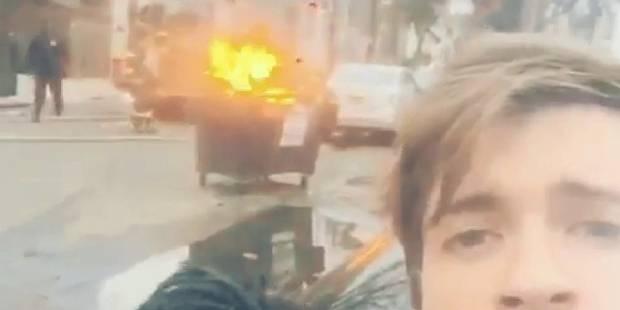 Un selfie devant un feu qu'ils vont rapidement regretter - La DH