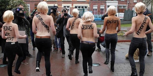 Départementales: les Femens réservent une drôle de surprise à Le Pen (PHOTOS) - La DH